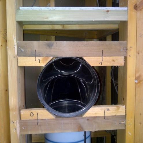Установка бельепровода в коттедже