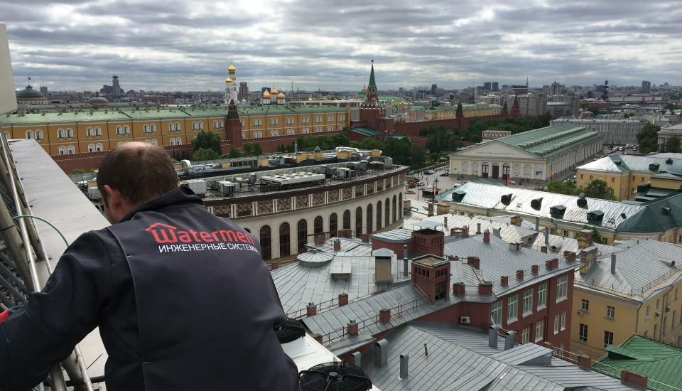 Монтаж инженерных систем на крыше The Ritz-Carlton